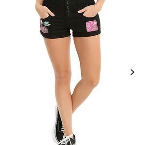 Hot Topic Cheshire cat shorts. NWOT